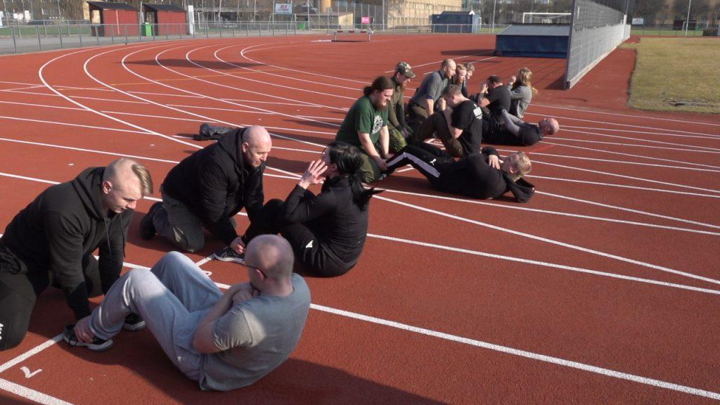 Outdoor training in NRM Sweden's Nest 1