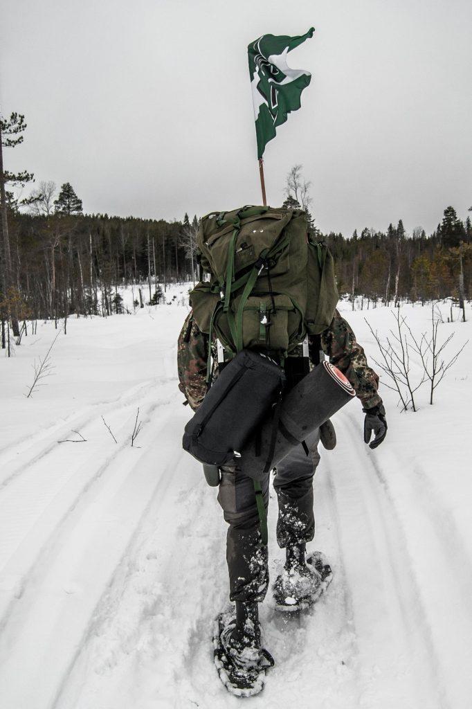 Nest 6 snowy hiking in northern Sweden