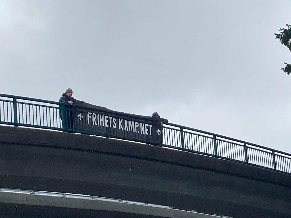 NRM banner action, Bergen, Norway