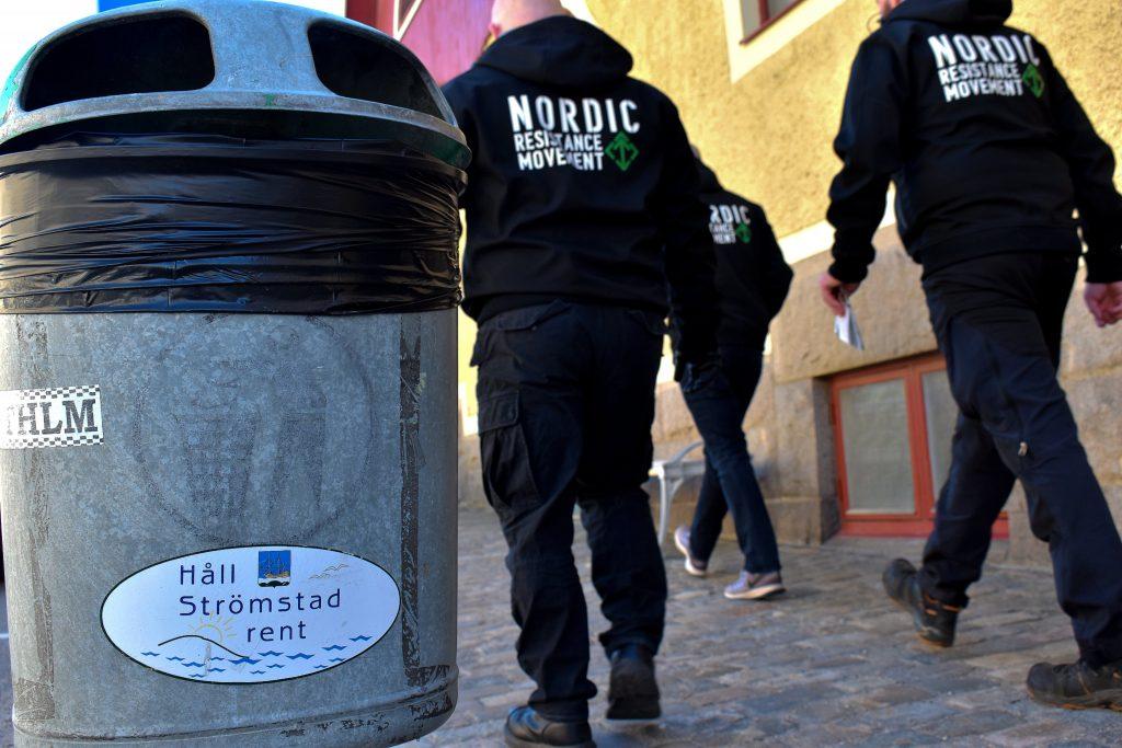 Nordic Resistance Movement activists in Strömstad