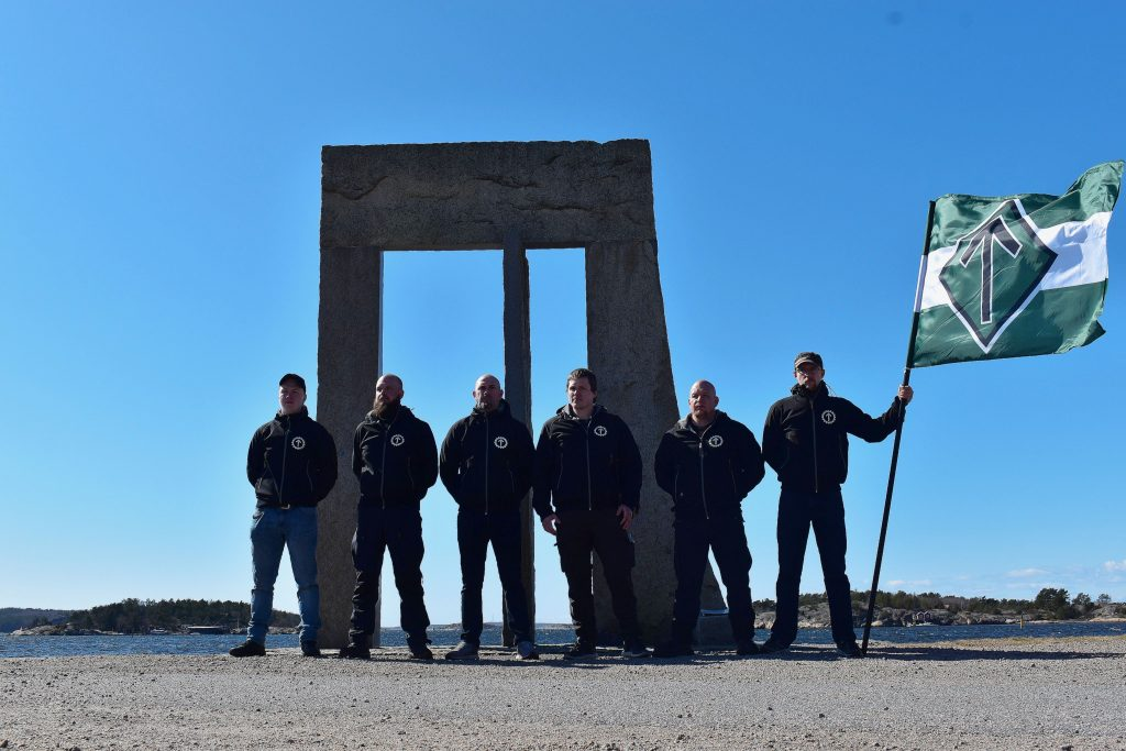 Nordic Resistance Movement activists in Strömstad, Sweden