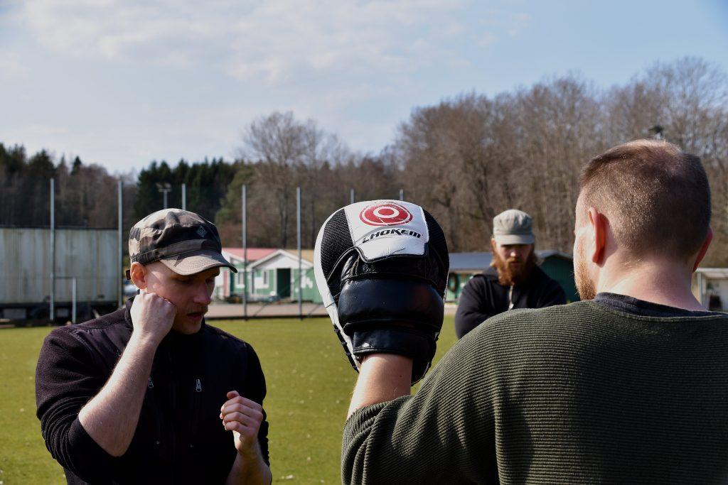 Nordic Resistance Movement Nest 2 boxing training