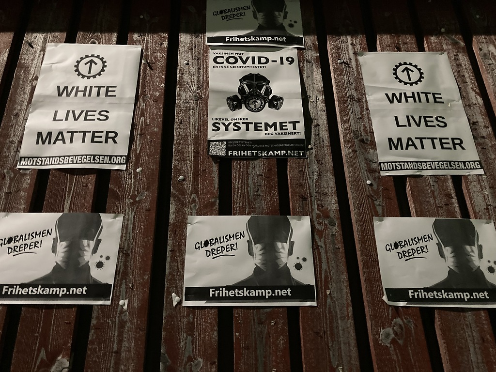 "Nordic Resistance Movement ""Globalism Kills"" posters, Norway"