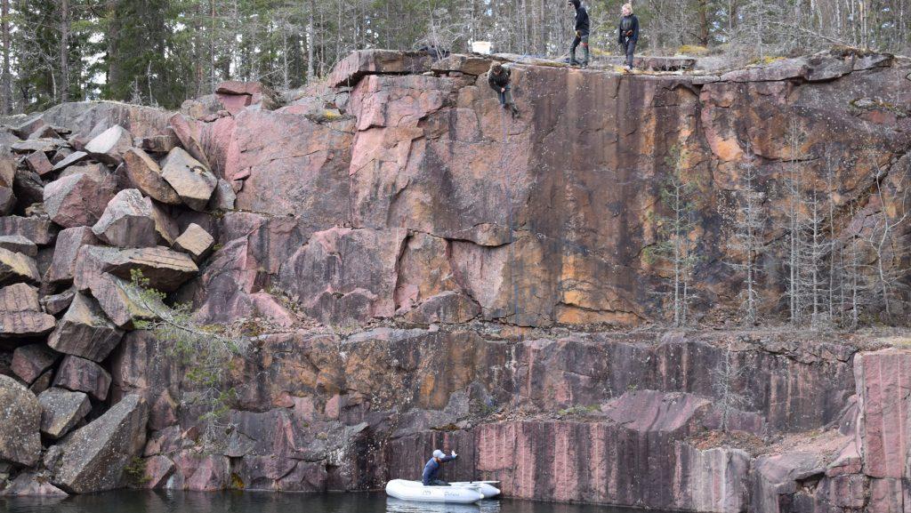 Abseiling in Småland, Sweden