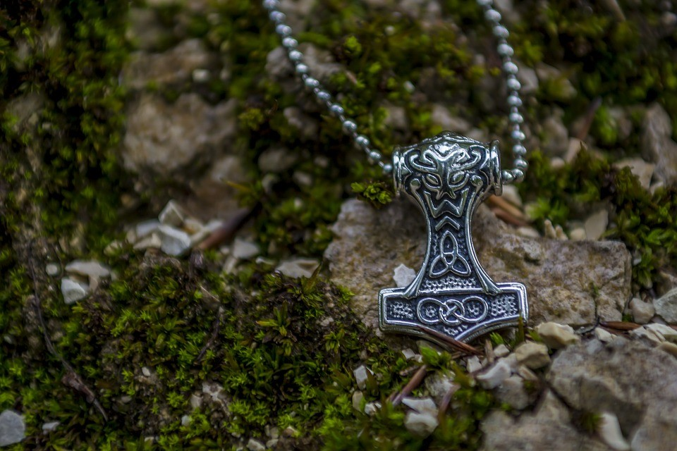 A Thor's hammer necklace