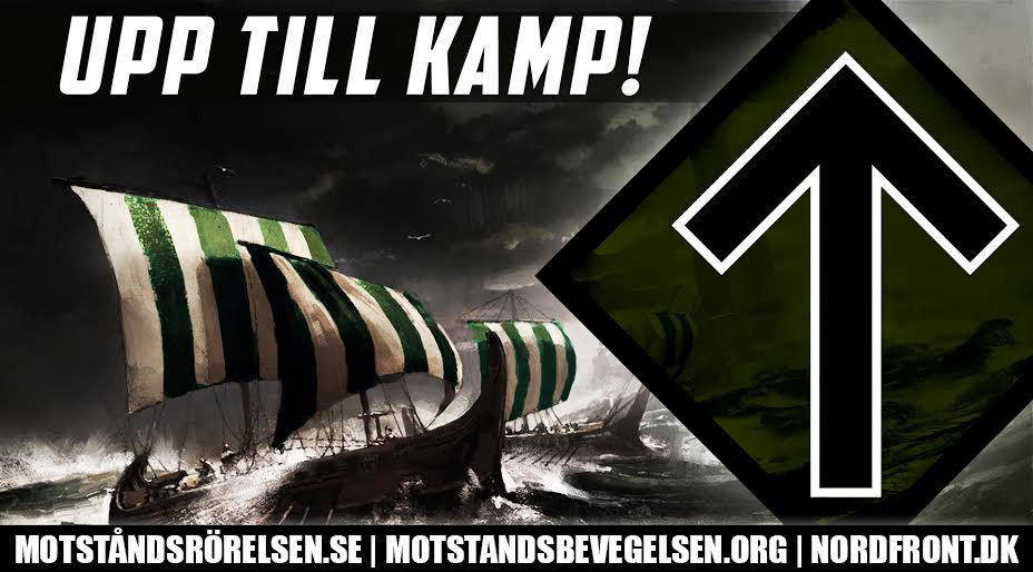 Viking ship Nordic Resistance Movement graphic