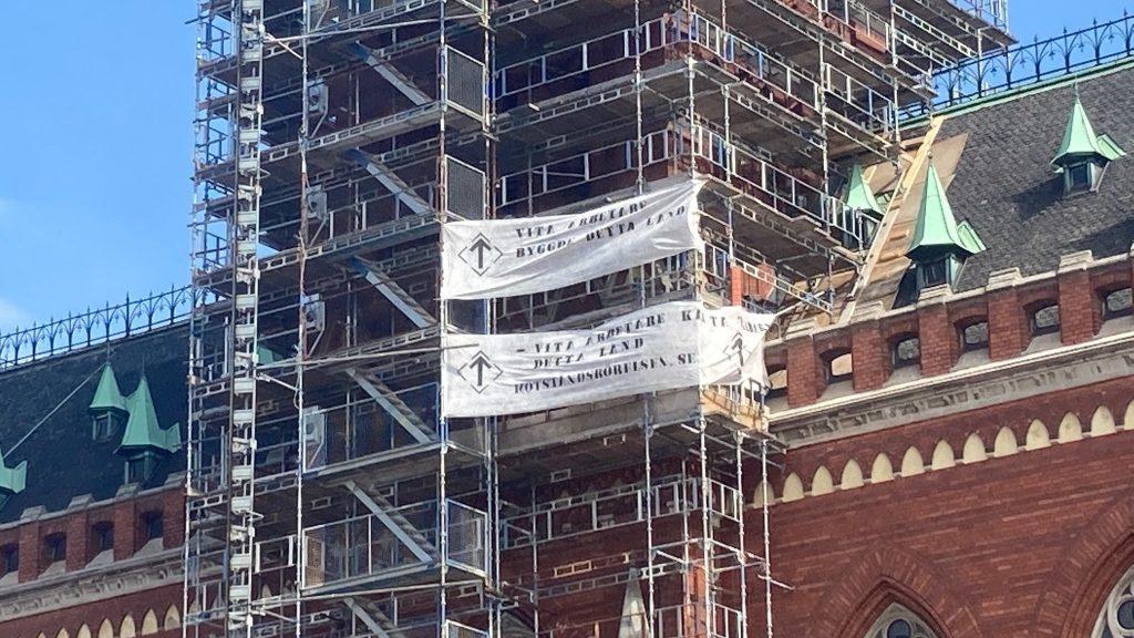 NRM 1 May banner activism 2021