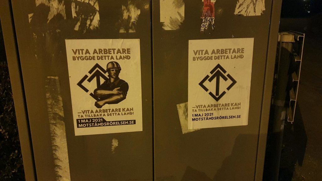 1 May NRM posters, Borås, Sweden