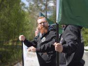 Nordic Resistance Movement banner action in Borlänge, Sweden
