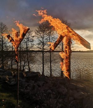 Burning runes at NRM Sweden's Nest 3 meeting