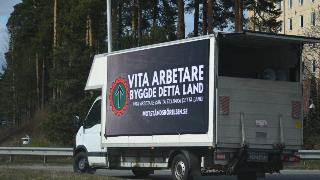 NRM banner truck in Falun