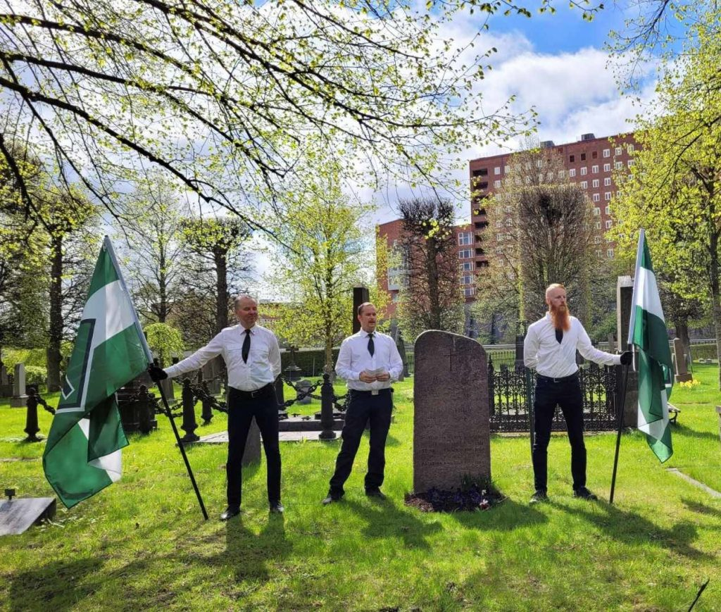 The Nordic Resistance Movement honours fallen Swedish volunteer soldiers on the Day of the Fallen 2021