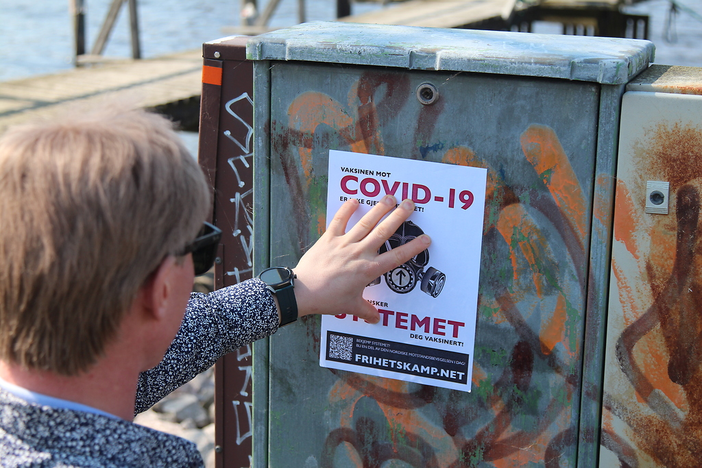 NRM Covid-19 awareness poster in Eastern Norway