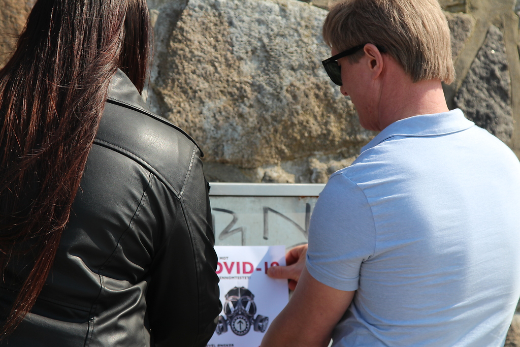 NRM Covid-19 awareness posters placed in Eastern Norway