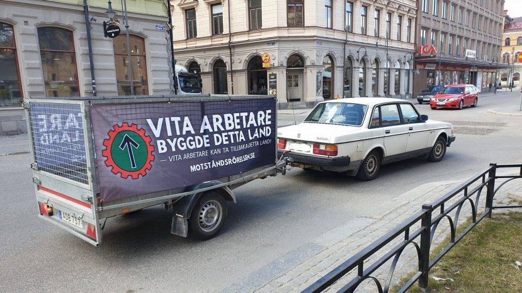 NRM trailer banner in Sundsvall, Sweden