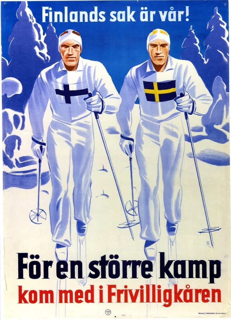 Poster for the Swedish Volunteer Corps