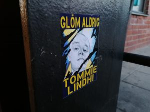 Nordic Resistance Movement Tommie Lindh memorial poster activism