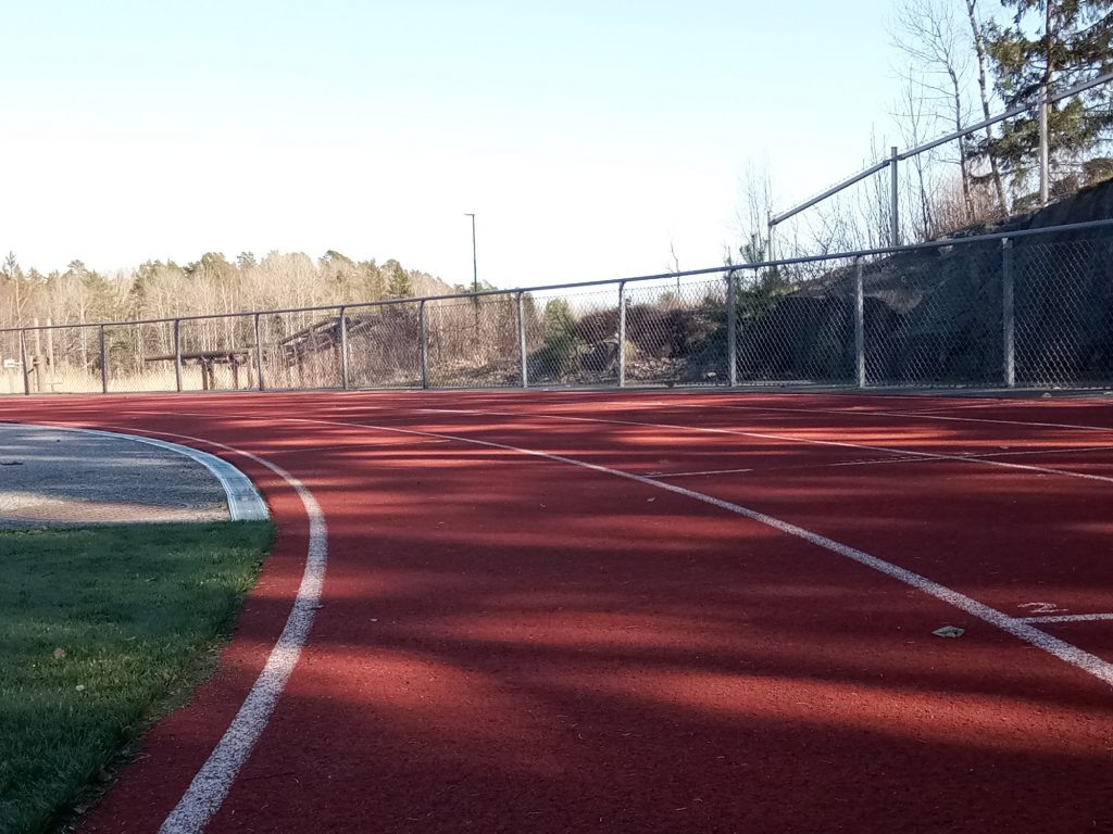 Running track in Stockholm, Sweden