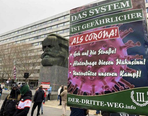 Der Dritte Weg anti-lockdown demonstration