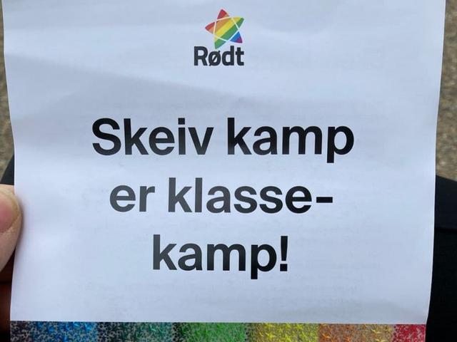 Norwegian Red Party homo leaflet
