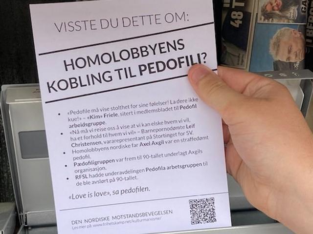 NRM leaflet about the homo lobby