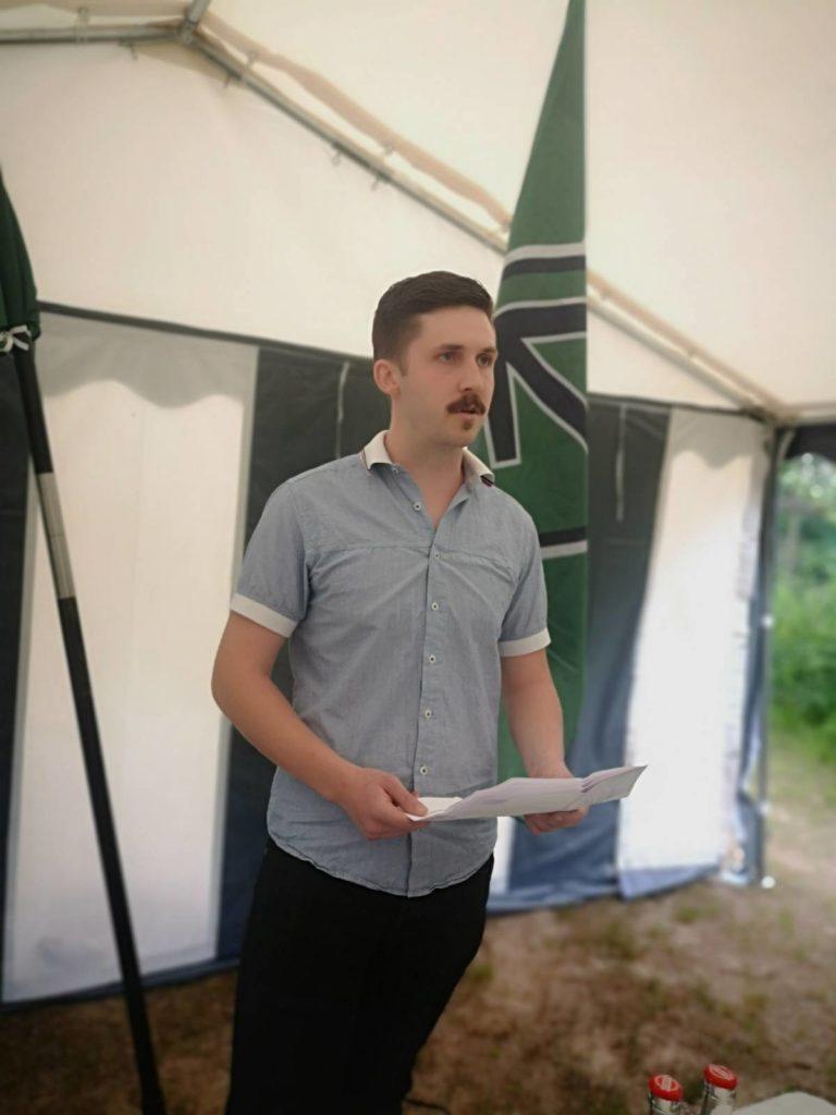 Sebastian Elofsson speaks at Nest 3 National Day meeting