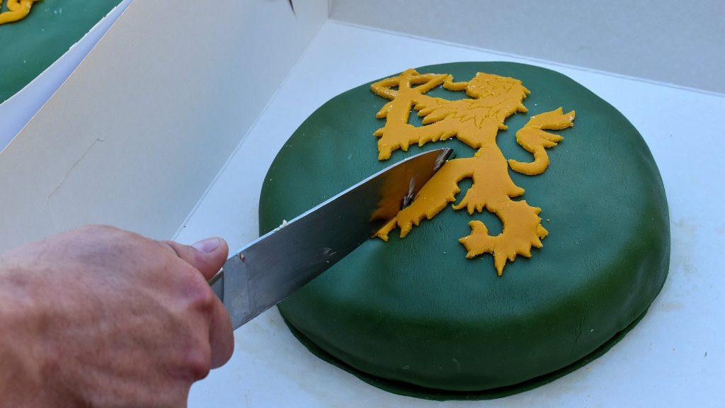 NRM Swedish lion cake