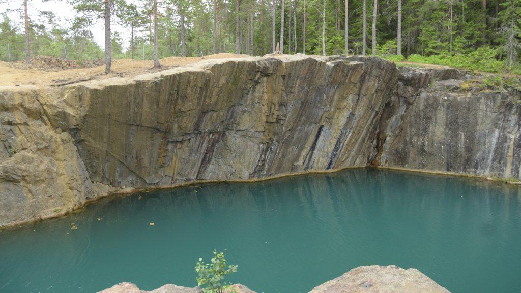 Mine pit lake near Borlänge, Sweden