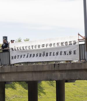 Skellefteå Nordic Resistance Movement banner