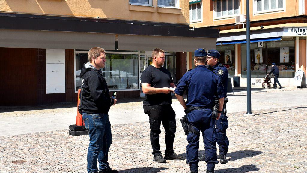 Police at Nest 2 NRM activity, Skövde, Sweden