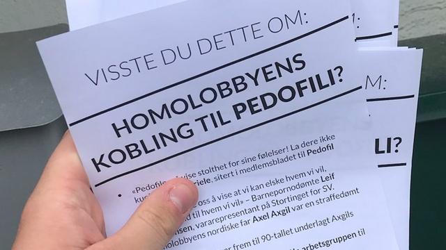 Homo lobby paedophilia leaflet
