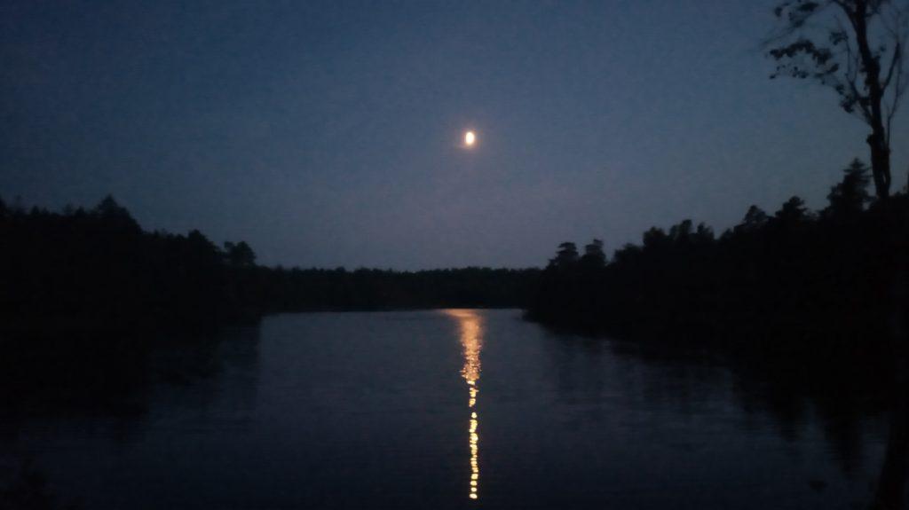 Swedish lake at night