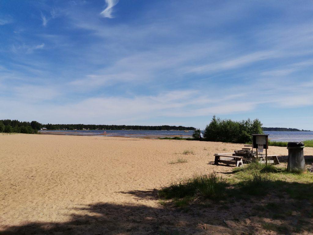 Beach in northern Sweden