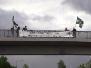 NRM anti-paedophile banner, Sweden