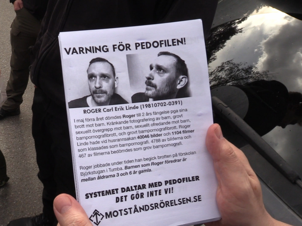 NRM anti-paedophile leaflet
