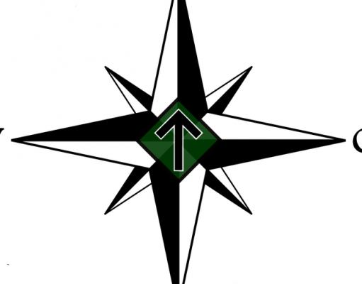 Tyr rune compass