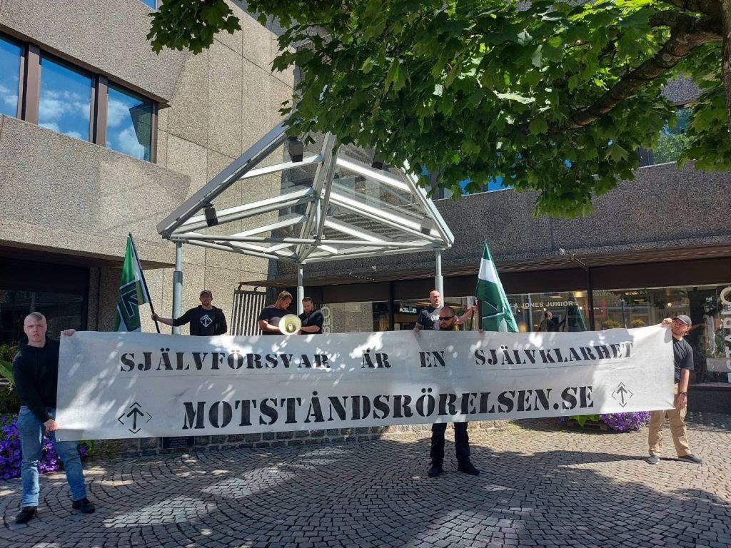 NRM banner action, Sweden