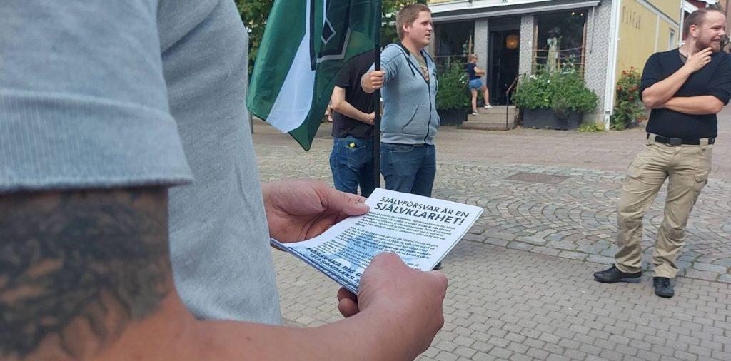 NRM day of action activism, Vetlanda, Sweden