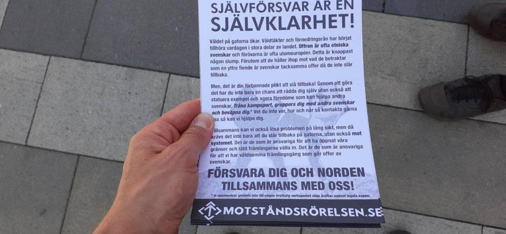 NRM leaflet, Vetlanda, Sweden
