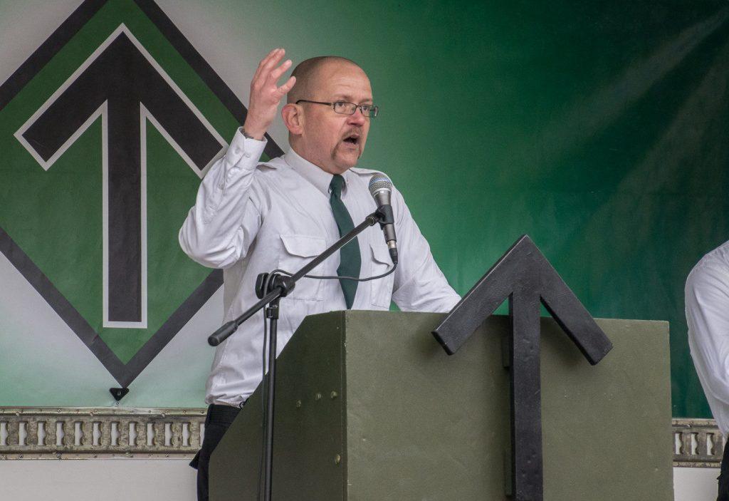 Pär Öberg holding a speech