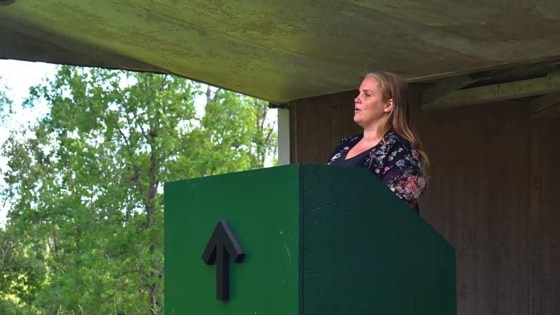 Paulina Forslund speech at Midsummer celebration