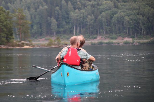 Canoeing in Setesdal, Norway