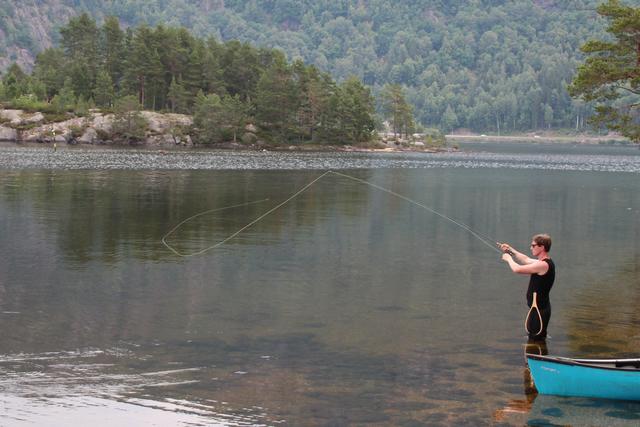 Fishing in Setesdal, Norway