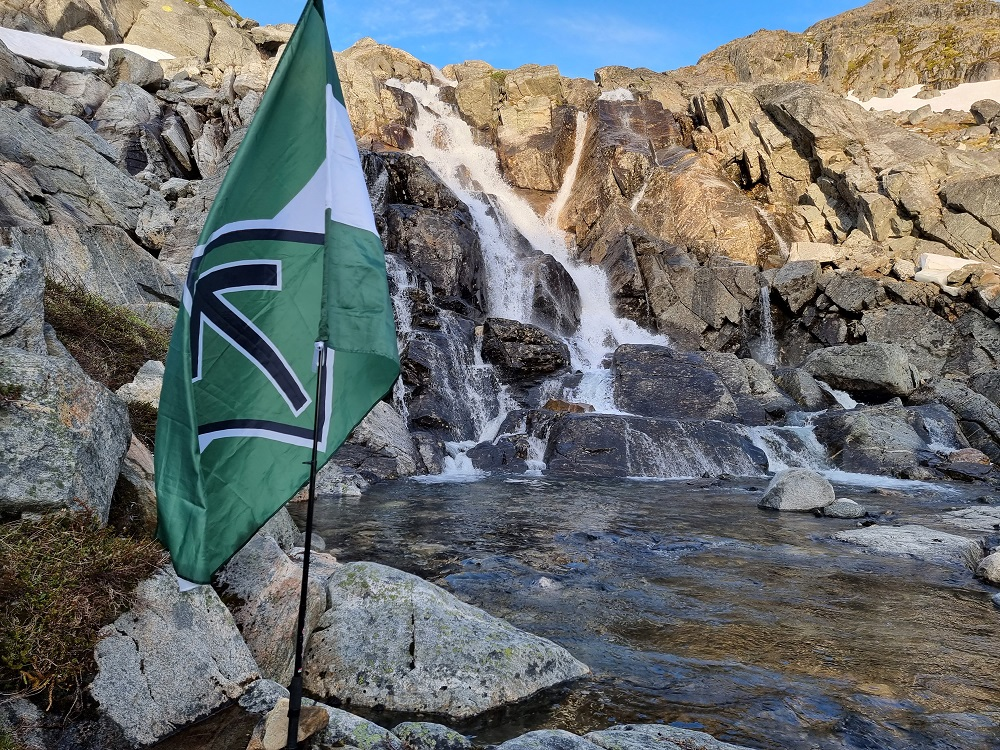 Nordic Resistance Movement flag in Greenland