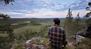 View over northern Swedish forest