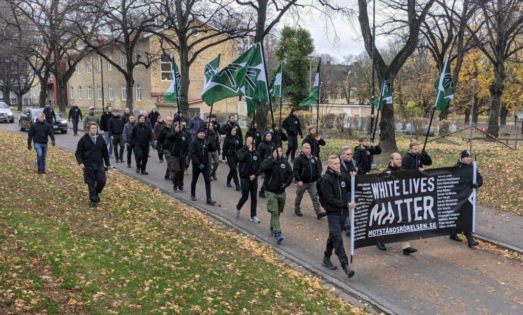 White Lives Matter flash demonstration, Örebro