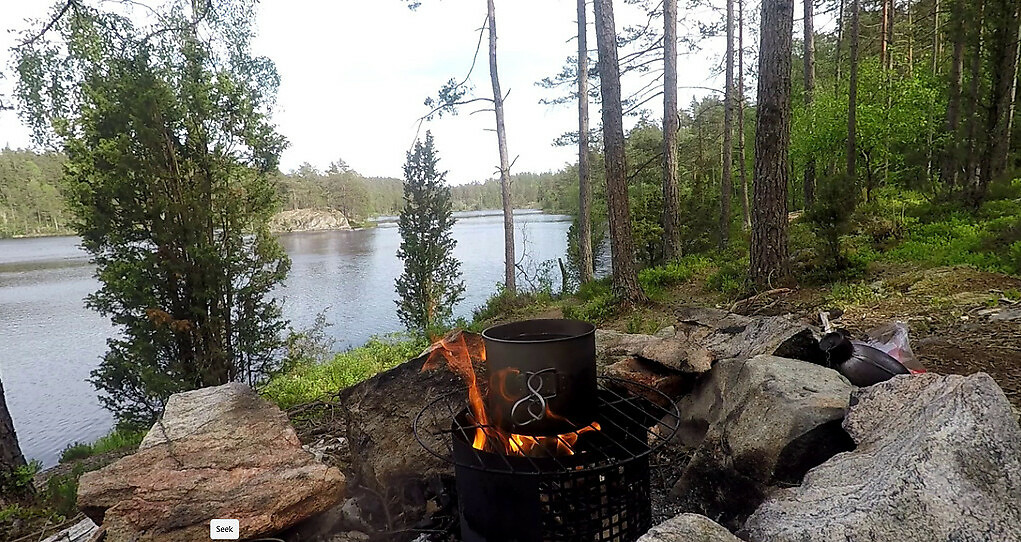 Wilderness camping in Norway