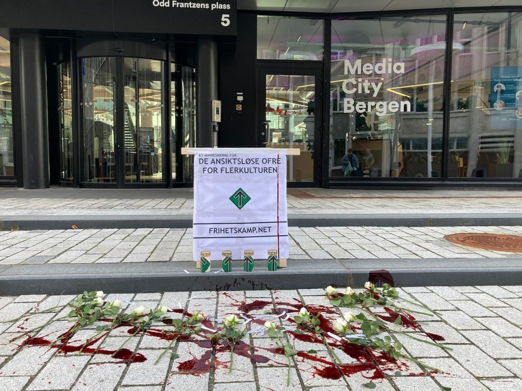 White Lives Matter memorial, Bergen, Norway