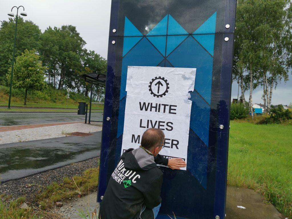 White Lives Matter poster, Bergen, Norway