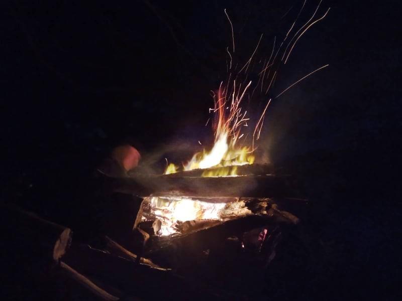 Bohusleden camp fire
